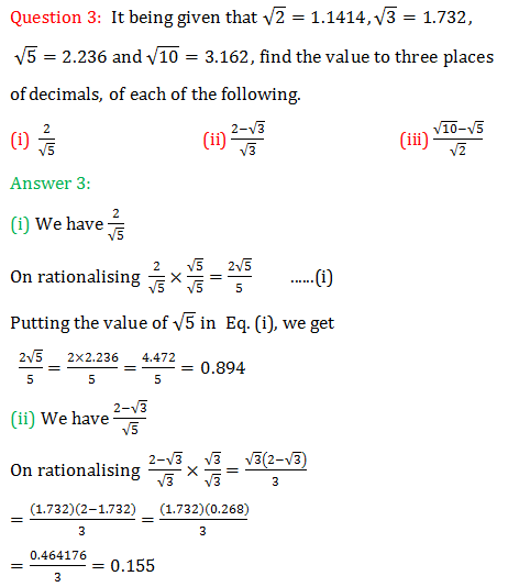 RS Aggarwal Class 9 Chapter 1 Number Systems Exercise 1F solution