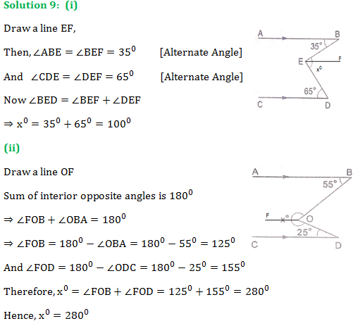 RS Aggarwal Class 9 Chapter 7 Exercise 7C Solution